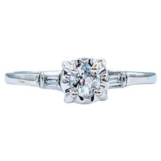 Beautiful Vintage European-Cut Diamond Ring