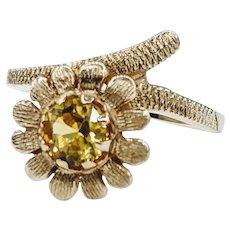 Charming Yellow Sapphire Flower Ring