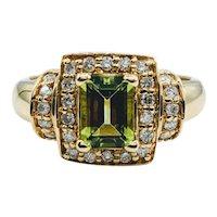 Stunning Peridot & Diamond Ring