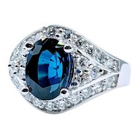 Gorgeous 3.24ct Sapphire & .87ctw Diamond Ring