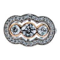 Heirloom 3-Stone Diamond Cocktail Ring