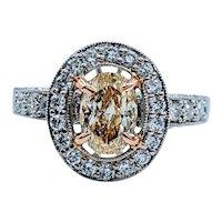GIA Certified 1.96ctw Fancy Yellow Diamond Ring