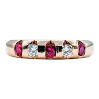 Gorgeous Ruby and Diamond Band
