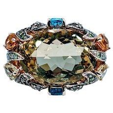 Exquisite Retired LeVian Multi-Gem Cocktail Ring