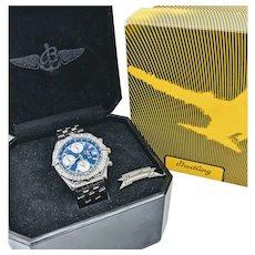 Rare Breitling Chronomat Reno BiPlane Championship Watch