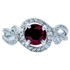 Sophisticated Ruby and White Diamond Ring