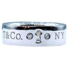 Tiffany & Co. Diamond Keyhole Ring