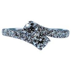 Stunning Two-Stone White Diamond Ring