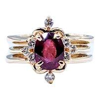 Gorgeous Tourmaline & Diamond Cocktail Ring
