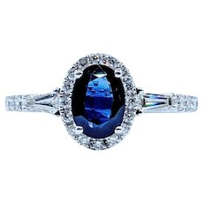 Simple & Stunning Sapphire and Diamond Ring