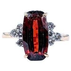 Stunning Garnet and Diamond Cocktail Ring