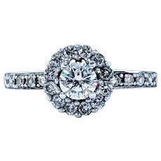 Captivating Vintage Diamond Halo Ring