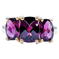 Rich and Colorful Almandine Garnet Cocktail Ring