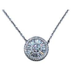 Splendid Diamond Pendant Necklace - 1.25 Carats