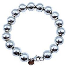 Tiffany & Co Sterling Silver Bead Bracelet