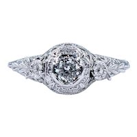 Fine Art Deco Diamond Engagement Ring