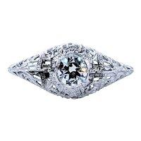 Antique Old European Cut Diamond Engagement Ring