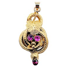 Antique Pink Sapphire and Solid Gold Pendant
