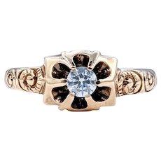 Victorian Diamond & 14K Gold Ring