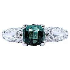 Fantastic Green Tourmaline Dress Ring