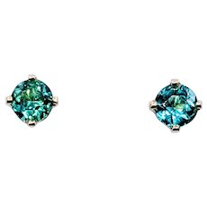 Bright Emerald Stud Earrings