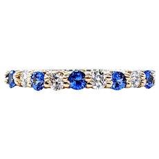 Beautiful Sapphire & Diamond Band Ring