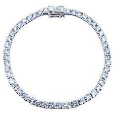 Diamond & Platinum Tennis Bracelet - 11.91ctw