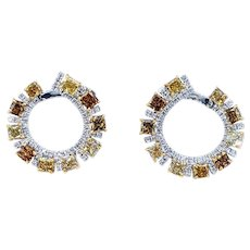 Exquisite Fancy Colored Diamond Earrings