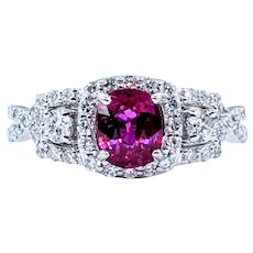 Stunning Ruby & Diamond Ring in Platinum
