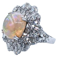 Superb Opal & Diamond Cocktail Ring