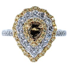 Splendid & RARE Natural Fancy Colored Diamond Ring