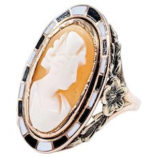 Beautiful Antique Victorian Cameo Ring