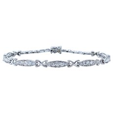 Beautiful Vintage Diamond Link Bracelet
