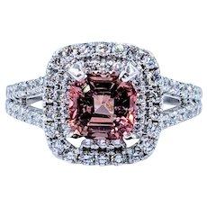 Delightful Pink Tourmaline & Diamond Ring