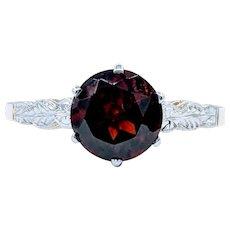 Elegant Garnet Ring with Antique 14K Mounting