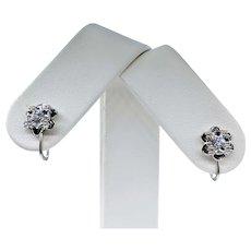Lovely Vintage Diamond & White Gold Earrings