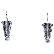 Elegant Art Deco Diamond Drop Earrings