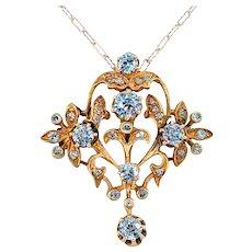 Exquisite Antique Diamond Pendant Necklace