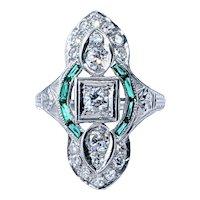 Stunning Art Deco Diamond Cocktail Ring