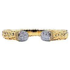 Stunning Diamond & Sculpted 18K Gold Bracelet by Cassis