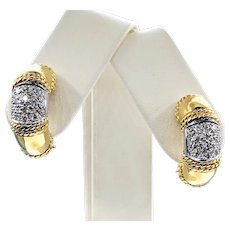 Luxurious Diamond & 18K Gold Earrings by Cassis