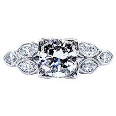 Superb Antique Diamond Engagement Ring