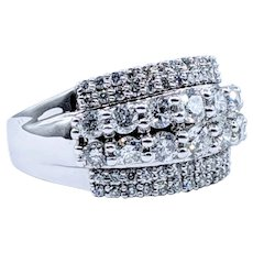 Impressive 1 1/4 Carat Diamond Cocktail Ring