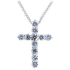 Roberto Coin 18K Diamond Cross Pendant
