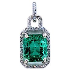 Rare & Beautiful Columbian Emerald Pendant