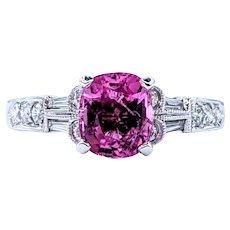 Bubblegum Pink Tourmaline & Diamond Cocktail Ring