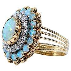 Stunning Opal & Diamond Cocktail Ring