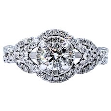 Luxurious Diamond Twist Engagement Ring