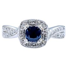 Beautiful Sapphire & Diamond Engagement Ring