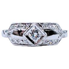 Striking Mid-Century Diamond Ring